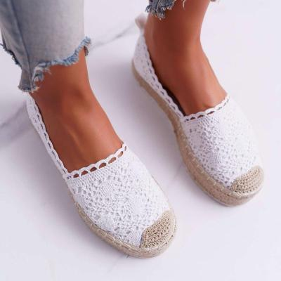 Women'S Slip-On Espadrilles Platform Loafers With Lace