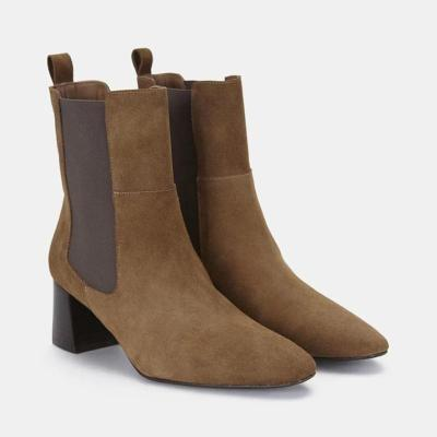 Women's fashion color matching high heel ankle boots RY34