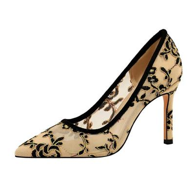 Summer Sexy Elegant Embroidery Stiletto Heel Shoes