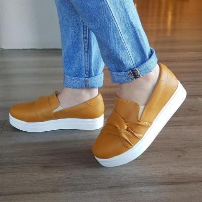 Knots Decorative Slip-On Low Heel Loafers