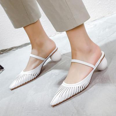 Hollow-Out Date Strange Heel Pointed Toe Sandals