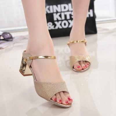 Summer New Women's Shoes Leisure Fish Mouth Women's Sandals Chunky Heel