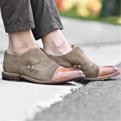 Fashion Pointed Head Split Joint Round Head Flat Shoes