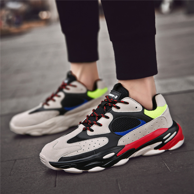 Men's Wild Color Stitching   Breathable Comfortable Men's Sneakers
