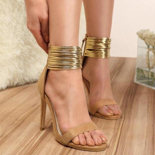 Women Sexy Stilettos Vintage Thin High Heels Open Toe Zipper Shoes