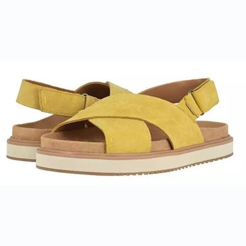 Beach Fashion Woman Cross-Band Flat Buckle Sandals