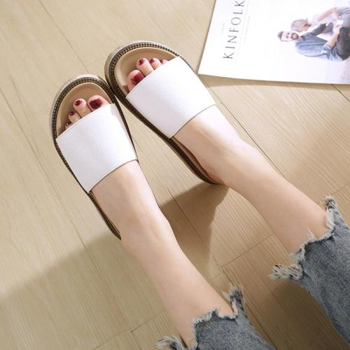 Summer Flat Slippers Colored Cross Belt Casual Home Slippers Flip Flops Female