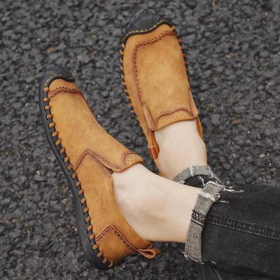 Men's Hand Stitching Non Slip Anti-collision Slip-on Outdoor Casual Shoes