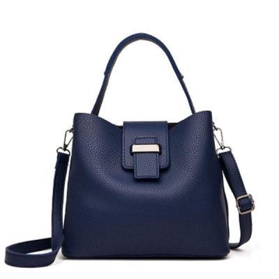 Retro Pu Leather Bucket Bag Casual Crossbody Bag Handbag
