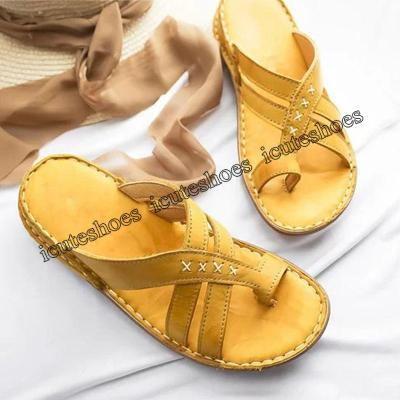 Summer Sandals For Women Beach Shoes Low Heels Wedges Shoes Women Flip Flops Gladiator Flat