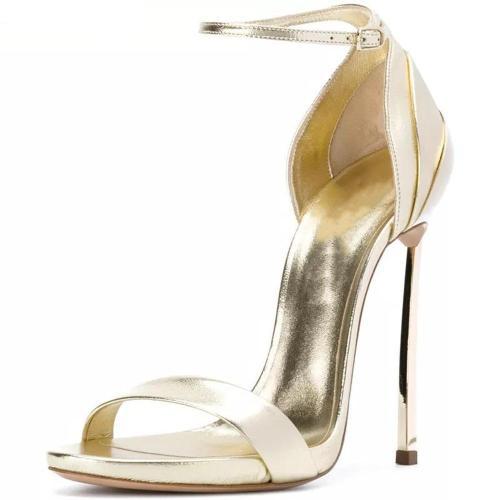 Woman Buckle Elegant Wedding Shoes Thin Heel Super High Heels Sandals