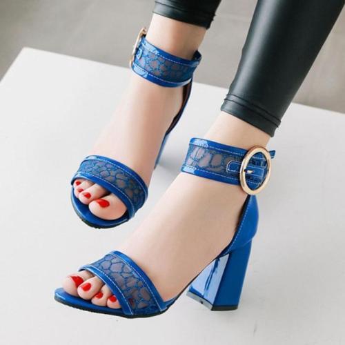 Daily Chunky Heel Open Toe Heels