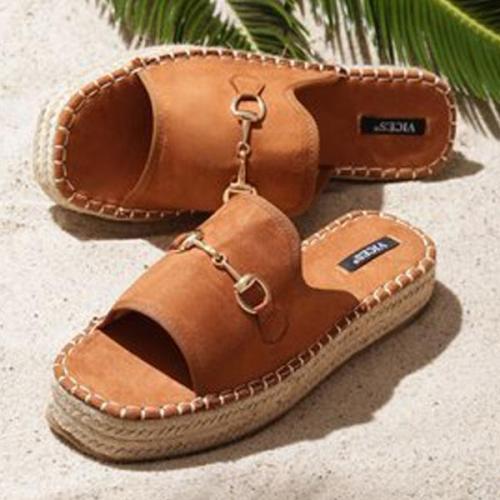 Women Casual Suede Open Toe Sandals