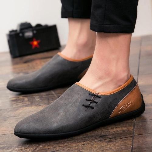 Men's Lace up PU leather Loafers