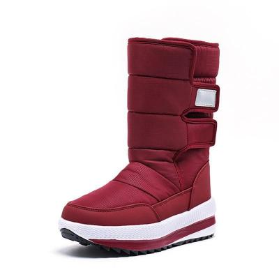 Autumn/Winter Wrap Stick Tape Mid-Calf Slipproof Boots