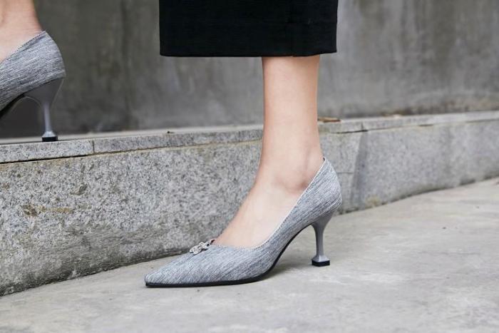 Pointed Rhinestone High Heels
