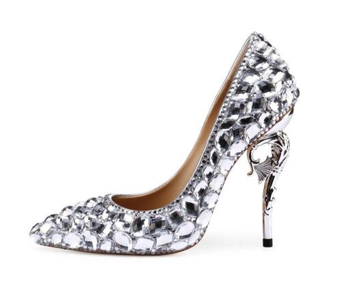 High Heel Rhinestone Date Pointed Toe Shoes
