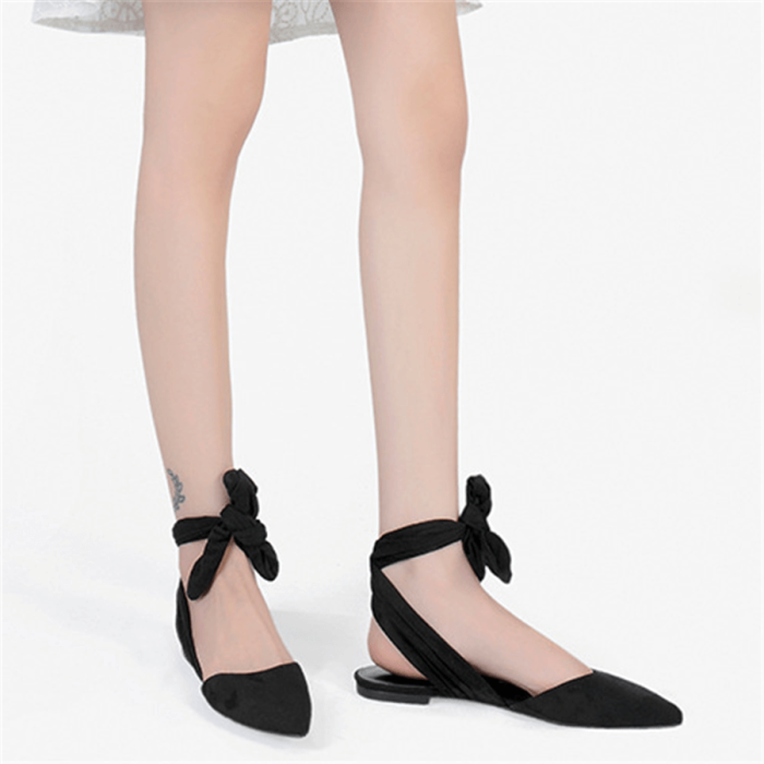Stylish Vintage Sweet Strappy Point Flats