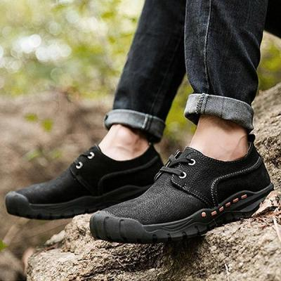 Mens Casual Outdoor Lace-up Hiking Climbing Flat Shoes