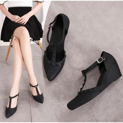 Wedge High Heels Woman T Tied Soft Comfortable Platform Female Casual High Heels