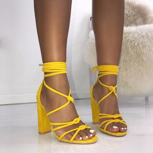 Roman Strap Shoes Women Sandals Sexy Sandals Solid High Heels Woman