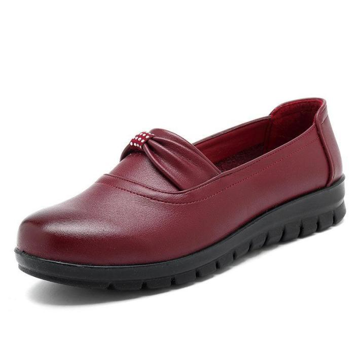Solid Color Soft Flexible Flat Comfortable Loafers For Women