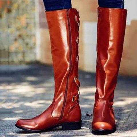 Women Sexy Casual Vintage Comfort Zipper Shoes