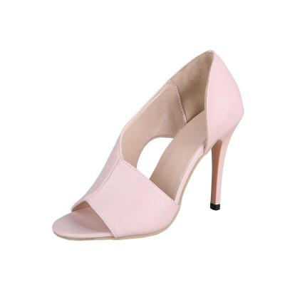 Summer New Style Fish Mouth Large Women's Shoes Sandals Thin Heel High Heels Women's Shoes