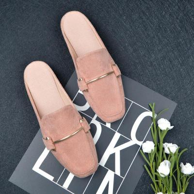 New Flat Slippers Women Cozy Casual Muller Shoes Cross-Border Sandals Summer