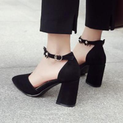 Sweet Adjustable Buckle Heels