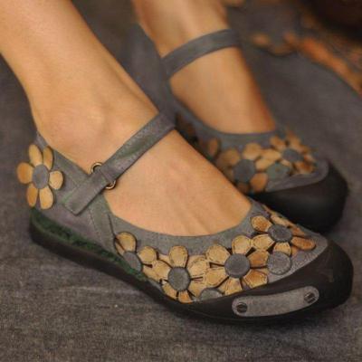 Vintage Daily Flat Heel Suede Flats