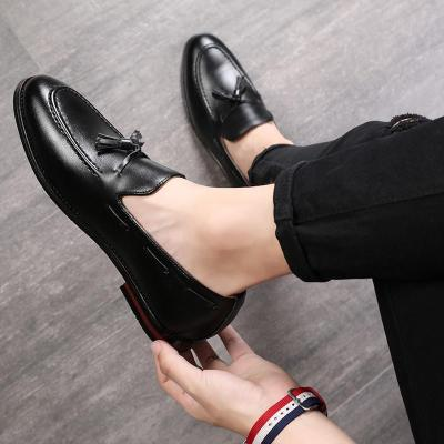 Tassel Loafers PU Leather Slip on Shoes