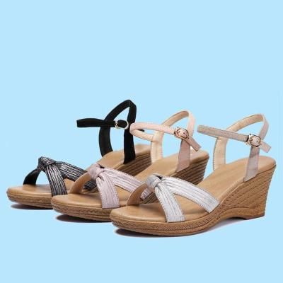 Wedge Heel Date Genuine Leather Sandals
