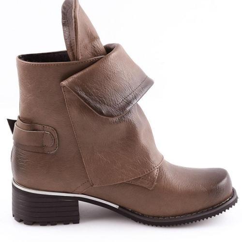Ladies Horse Riding Boots Vintage Combat Punk Ankle Shoes