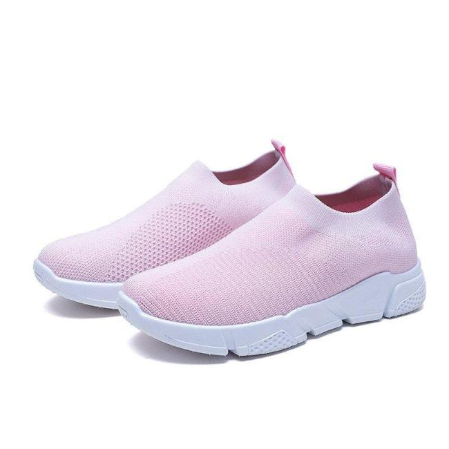 Womens Casual Slip on Mesh Fabric Sneakers