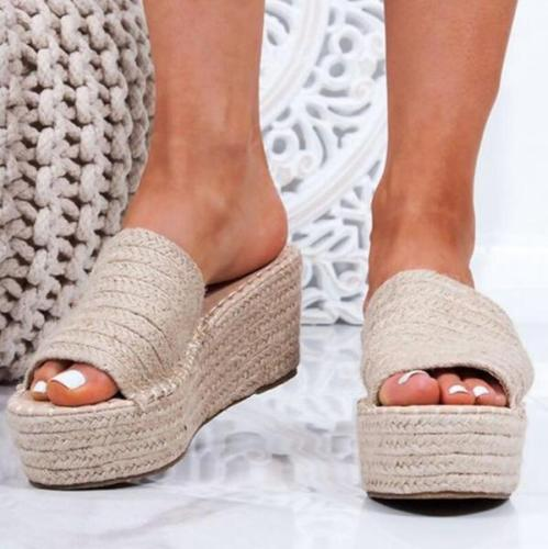 Women Slip-On Platform Sandals