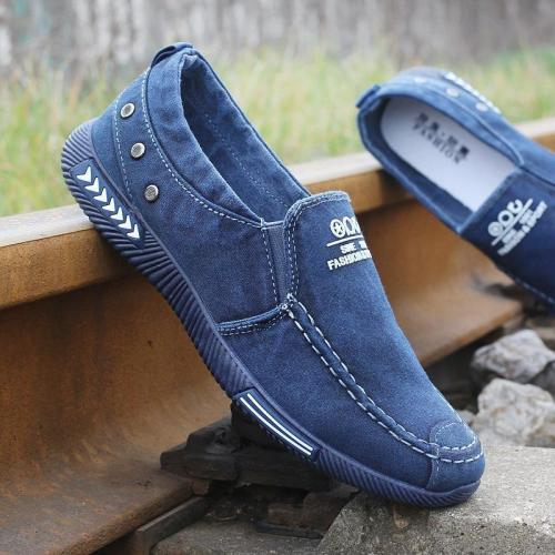 Men Lace-Up Casual Canvas Shoes