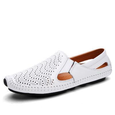 Mens Casual Slip-on Hollow Out Loafers Summer Driving Shoes