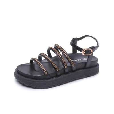 Fashion Chain Bottom Gladiator Sandals 2020 New Summer Non-slip Women's Sandals