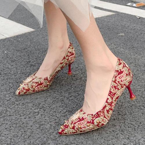 Printed Stiletto Heel Elegant Pumps
