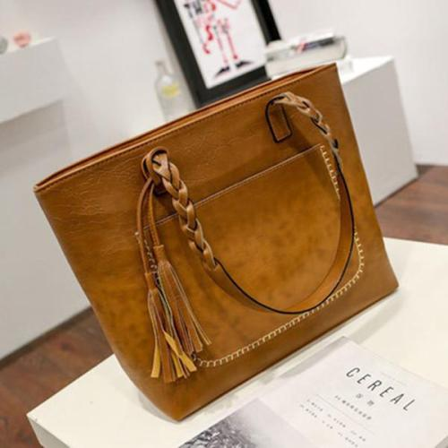 Large-Capacity Tassel Handbag Crossbody Bag