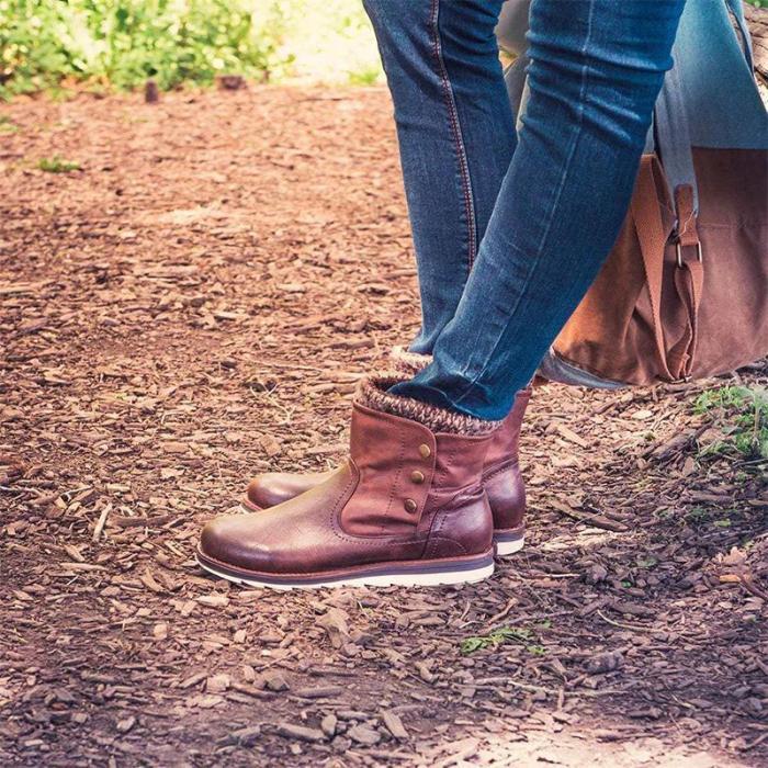 Women Casual Plus Size PU Boots