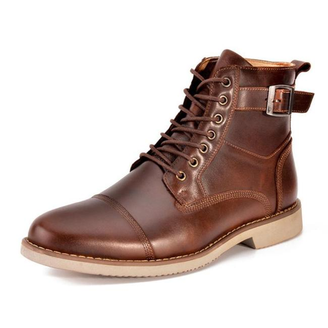 Men's Casual High-Top Leather Martin Men Boots