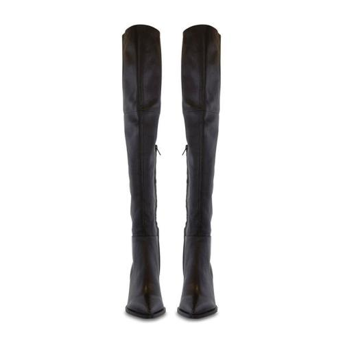 Simple Thigh High Pointed Toe Boots
