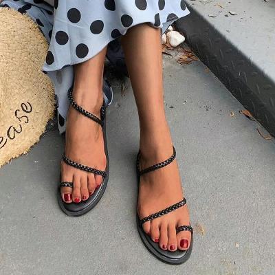 Women's PU Flip-flops Flat Sandals