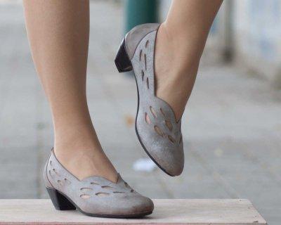 Women Chunky Heel Summer Dress Hollow-out Heels