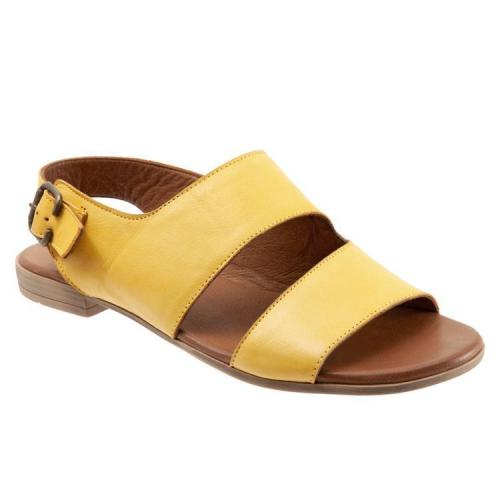 Summer Band Peep-Toe Plus Size Flat Mule Sandals