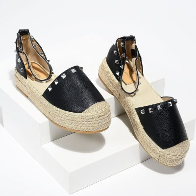 Beverly Studded Black Espadrilles