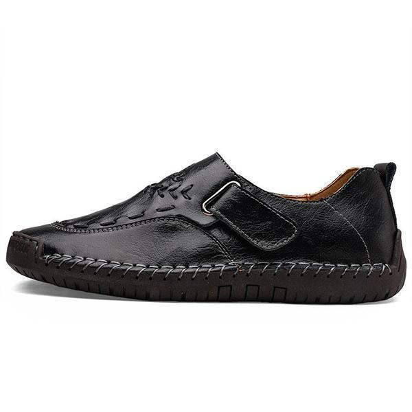 Mens Hand Stitching Slip-on Fashion Flats Casual Driving Shoes