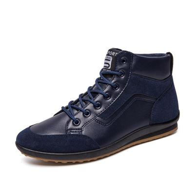 PU Patchwork Casual Ankle Casual Shoes